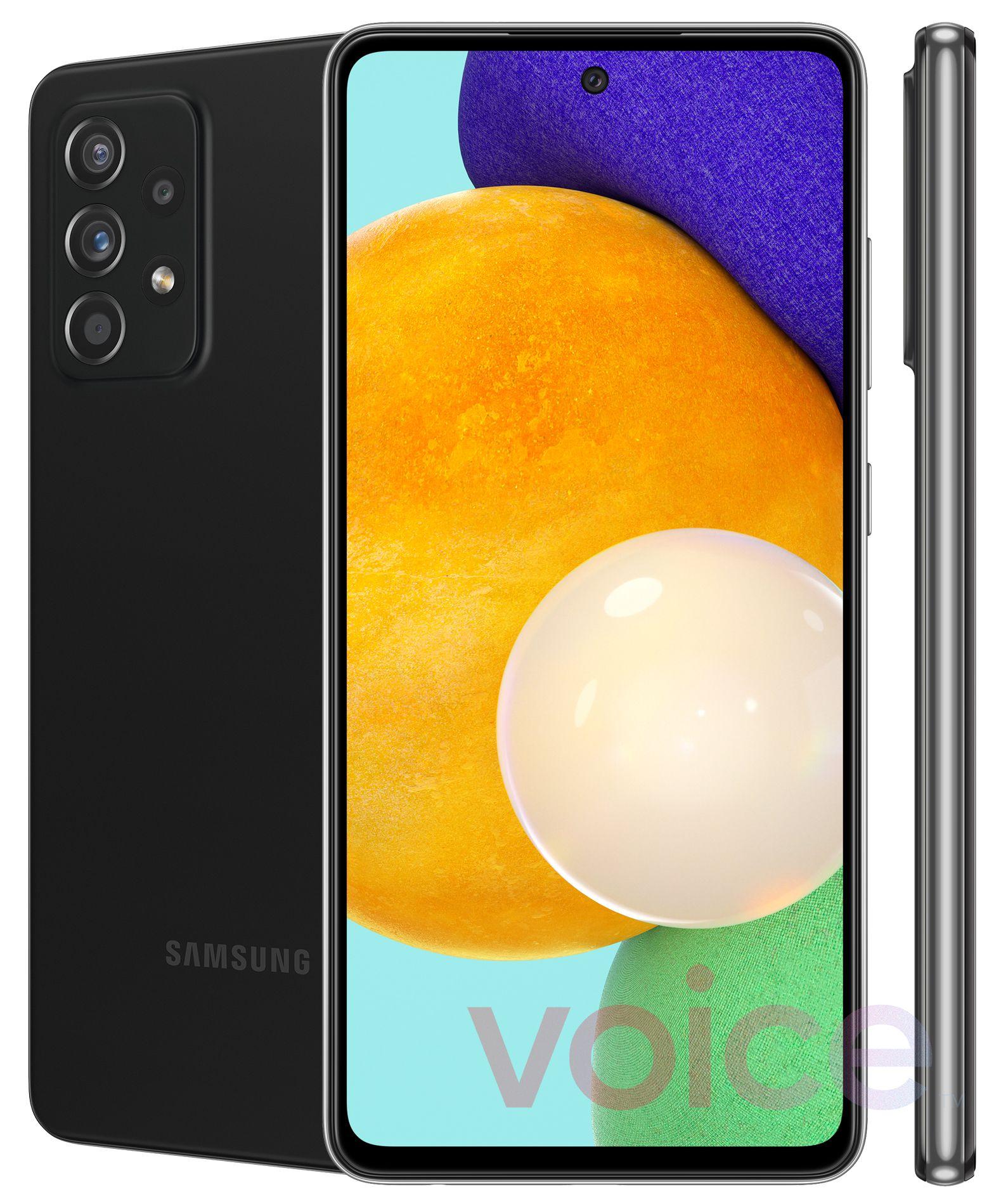 Samsung Galaxy A52 渲染图
